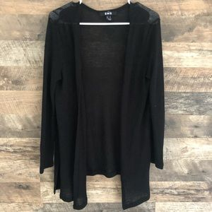 Small SWS Black Open Front Cardigan